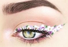 flower eyeliner: Trend alert: Floral eyeliner is making us bloom ...