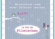 Plattdeutsche Postkarte,Eule
