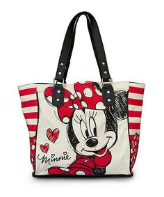 Love this Minnie Mouse Stripe Classic Tote by Minnie Mouse on #zulily! #zulilyfinds