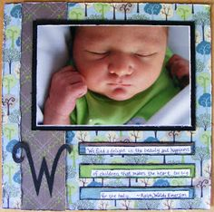 Snap.Scrap.Blog.Tweet: Baby Scrapbook Layouts: Journaling to remember your baby's special moments