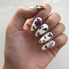 Artisanal Pressed Real Flower Nails