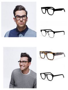 Mod Man's Inspiration: Dan Levy's dark framed glasses  Get the look at: http://modmanapp.tumblr.com/post/88302183651/mod-mans-inspiration-dan-levys-dark-framed