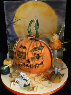 Pumpkins in the Park - Cake by Fifi's Cakes