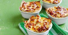 Lasagne Pots by Taste. Lasagne doesn't have to be time-consuming. These individual pots use shortcuts so they are ready in just 45 minutes and taste divine! Beef Dishes, Pasta Dishes, Lasagne Recipes, Pasta Recipes, Mince Recipes, Beef Recipes, Tacos, Appetisers, Air Fryer Recipes