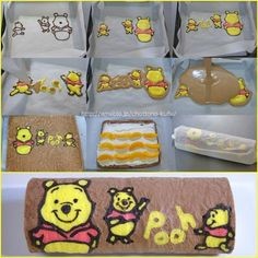 My Cupcakes and Cakes World: Strawberry Swiss Roll Japanese Roll Cake, Swiss Roll Cakes, Sponge Cake Roll, Winnie The Pooh Cake, Cake Roll Recipes, Patterned Cake, Gift Cake, Specialty Cakes, Cake Tutorial
