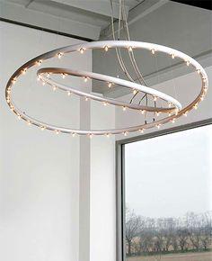 Hula op Doppia chandelier by Lumen Center Italia #modernlighting #chandelier