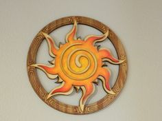 SPRING SALE Celtic Spiral Sun Wood Wall by MinusTideJewelry, $25.00