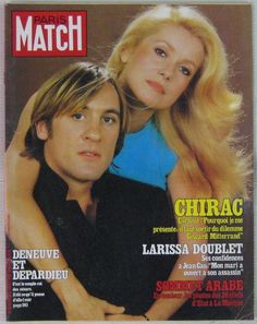 Catherine Deneuve & Gérard Depardieu, long-time partners