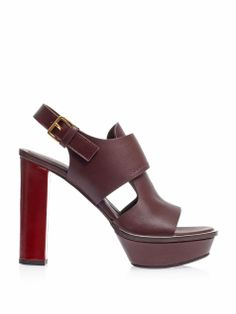 Leather platform sandals | Marni | MATCHESFASHION.COM