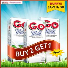 Needs Healthy Offer Buy 2ltr Go milk and get 1Ltr Go Milk Double Toned absolutely free. #Buy2Get1