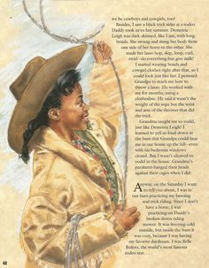 """American Girl Magazine - January 1993/February 1993 Issue - Page 43 (Part 3 of """"Hawkeye Hatty Rides Again"""" - A Story by Eleanora E. Tate)"""