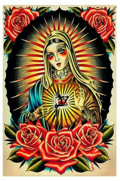 Faith Mary Art Print #rebelcircus #rebel #circus #goth #gothic #punk #punkrock #rockabilly #psychobilly #pinup #inked #alternative #fashion  #clothing #clothes #style #retro #style #rock #grunge