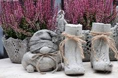 Image result for betoni askartelu Concrete Crafts, Concrete Garden, Cement Pots, Outdoor Living, Outdoor Decor, Garden Sculpture, Modern Design, Royalty, Awesome
