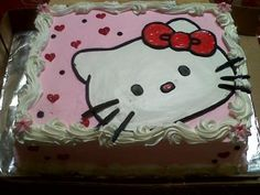 cute cake and other Hello Kitty party ideas