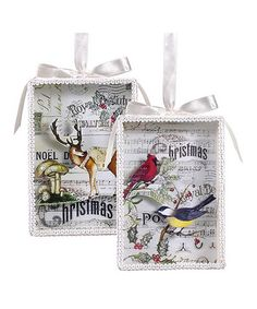 Take a look at this Christmas Song Shadow Box Ornament Set by Grasslands Road on #zulily today!