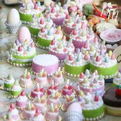 Finishing up a new batch of these Easter cakes. I can't believe how popular they have been! www.parisminiatures.etsy.com
