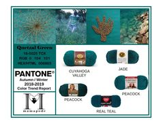 Quetzal Green - Pantone Color Trend Report Autumn Winter 2018 2019 Fashion trend analysis and yarn matching by mamapode Tight Crochet 50 Fashion, Fashion Over, Fashion Trends, Fashion 2018, Fashion Styles, Pink Peacock, Trend Analysis, Fall Winter, Autumn