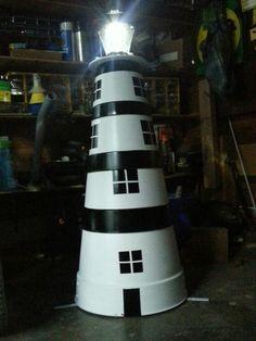 Flower pot lighthouse
