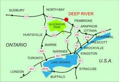 Eastern Ontario map.