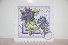 Card created by Debbie Moran using Craftwork Cards Ultra Violet Flora Collection Craftwork Cards, Ultra Violet, Flora, Vogue, Tea, Create, Inspiration, Collection, Decor