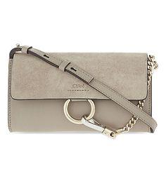 CHLOE Faye suede wallet on chain