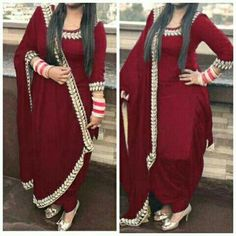 comfy and cute outfits Indian Suits Punjabi, Punjabi Suits Party Wear, Punjabi Dress, Indian Wear, Indian Style, Patiala Suit Designs, Patiala Salwar Suits, Kurta Designs, Phulkari Punjabi Suits