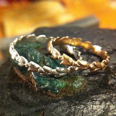 Tulip Rings for 2 Lovers a set of two rings by ruiandaguri on Etsy, $650.00