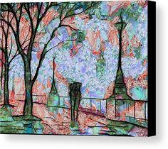 #pareja #caminando #lluvia #londres #inglaterra #afremov #vangogh #impresionismo #expresionismo #arte #digital #pintura #van #gogh