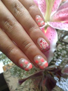 Cupcake birthday nails