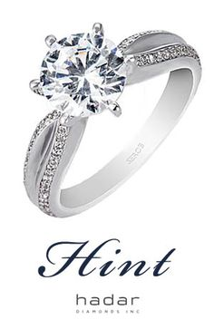 Hint to my Honey by HadarDiamonds.com . Split-shank solitaire with pave band. See your design before it's made with complimentary 3D CAD renderings.  Silver models available for a nominal fee.  Custom made with Love in Southern California. #pave