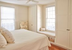 Plenty of storage in the king bedroom and a window seat