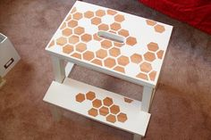 easy revamp old furniture honey-comb style