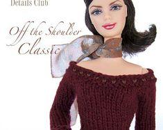 Knitting pattern for 11 1/2 inch fashion dolls: par DBDollPatterns