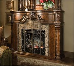 Decorative Stone Fireplace brilliant! customize your fireplace and mantel to match your built
