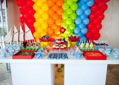 This dessert table is adorable.