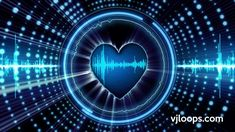 Feel the (heart) beat! ♥  #vjloops #valentines #love #valentinesday #animation #heart #EDM #music #loop #sound #EQ #stockfootage #video #blue #background #3D #adagency