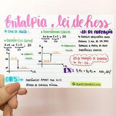 ENTALPIA, LEI DE HESS. #resumosonhodamedicina #resumos #quimica #medicina