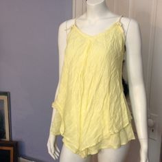 Promod yellow sleeveless top Promod yellow sleeveless top, pre-loved, in good condition. Promod Tops Blouses