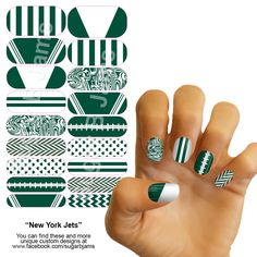 New York Jets Jamberry Nail Wrap
