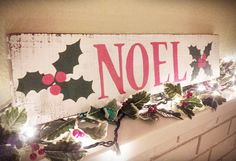 Noel Wooden Christmas Sign by SIGNLANGUAGEBYJAIME on Etsy, $27.99