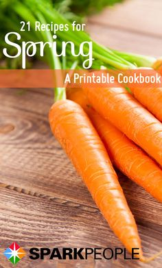 Printable Cookbook: The Best Spring Recipes. Oooh, these look awesome! Such fresh ingredients! | via @SparkPeople #cookbook #spring #nutrition #recipes