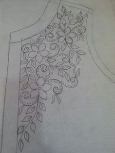 Awesome Most Popular Embroidery Patterns Ideas. Most Popular Embroidery Patterns Ideas. Embroidery Neck Designs, Hand Embroidery Patterns, Ribbon Embroidery, Beaded Embroidery, Embroidery Stitches, Machine Embroidery, Sewing Patterns, Motifs Perler, Mexican Embroidery