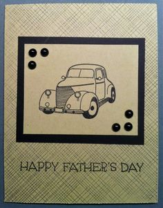 Fathers Day Card- great idea for a vehicle card for father's day.