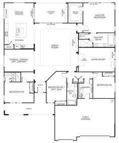 single story floor plans one story house plans - House Building Plans