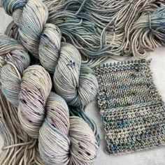 6 available ~Winter Solstice has come and gone - it will only get lighter from here! In honor or our lighter days, a lighter colorway. They pair nicely with the Silvery Sage skeins seen side-by...