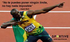 No te pongas límites, no hay nada imposible #entrenamiento #motivación #deporte #frases #bolt #atletismo