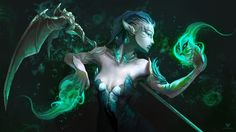 GW2 Fan SubmissionLink to Deviantart : http://fav.me/d8pzms4My sylvari necromancer [Submitted by Sefokusu]