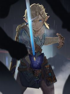 雨の夜 - Breath of the Wild Link #nintendo #legendofzelda #fanart