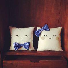 Imagen de pillow, couple, and bow