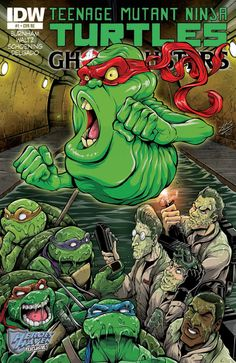 Tmnt/ghostbusters 1 Glow-in-the-dark Heroes Haven NM Ninja Turtles Art, Teenage Mutant Ninja Turtles, Crossover, Ghostbusters 1984, Dark Ink, Ghost Busters, Comic Drawing, Comic Book Covers, Comic Books